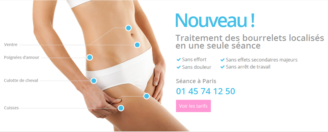 Cryolipolyse Paris - Traitement de la cellulite par le froid